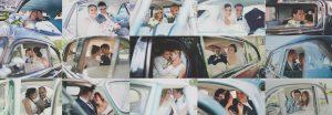 Collage Sposi in auto della Fiorentino Eventi