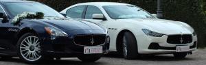 Maserati Blu e Maserati bianca