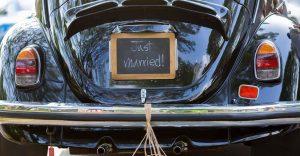 macchina per il matrimonio