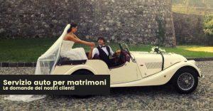 servizio auto per matrimoni